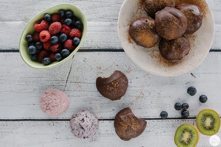 Kiwi Raspberry Blueberry Creme Truffles