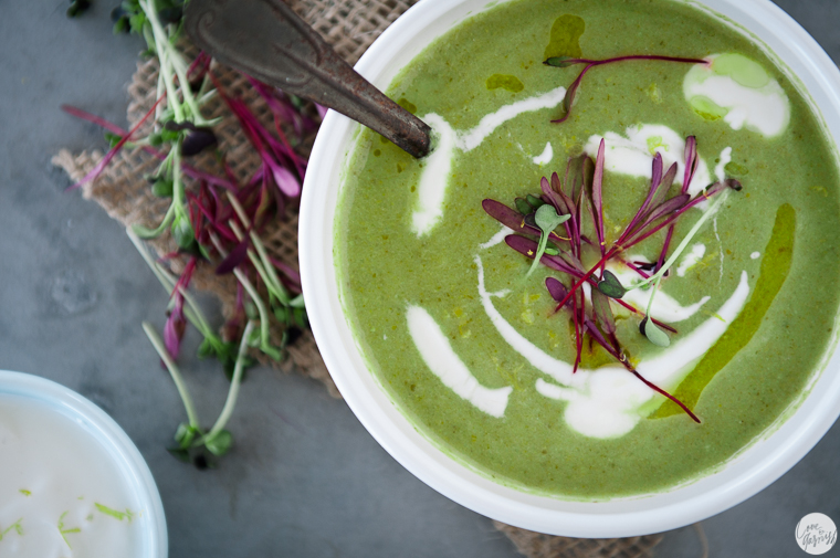 asparagus soup overhead