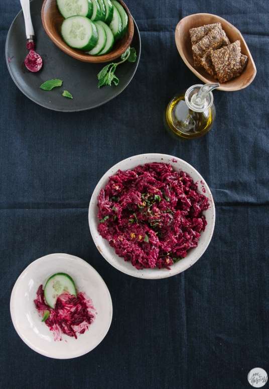 beet dip mint garlic lemon