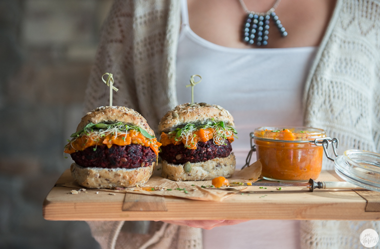 perfect veggie burger tomato chipotle jam