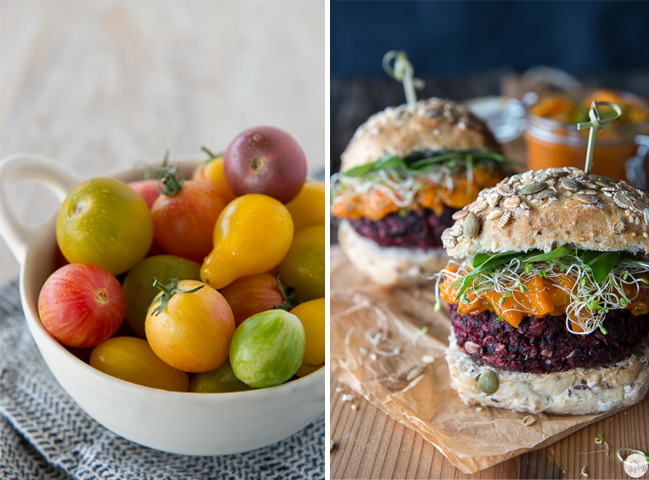 veggie burgers shiitake mushrooms smoked tofu beets with a chipotle tomato jam