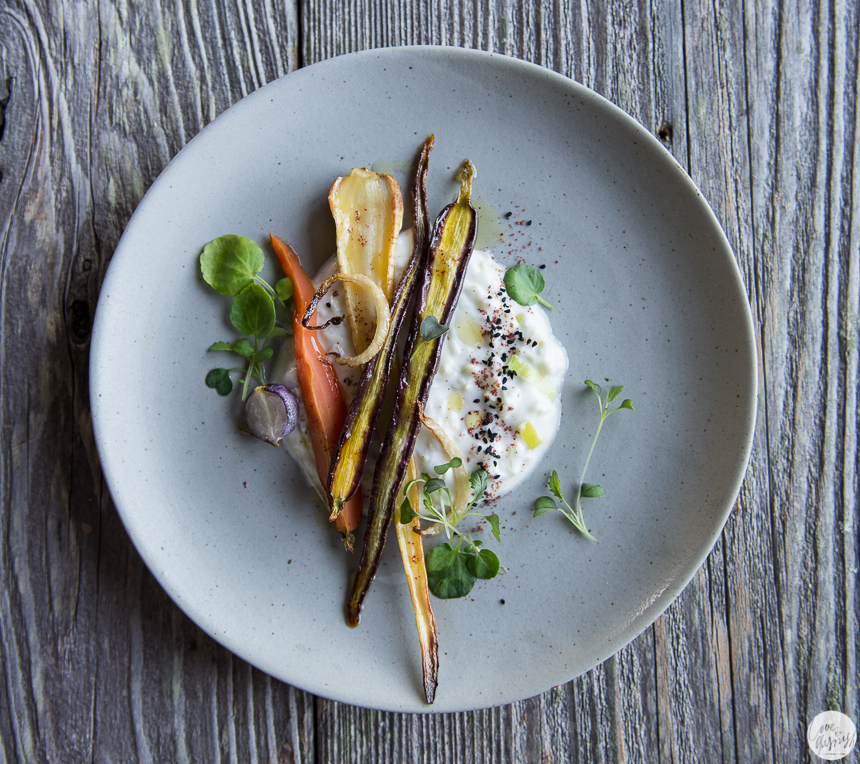 honey roasted parsnips carrots fennel with leek yogurt sumac nigella seeds