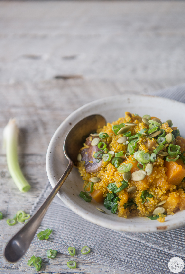 sweet squash and shiitake quinoa pilaf - detox food