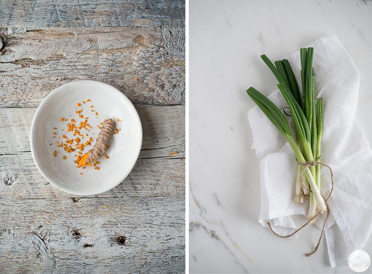 detox food turmeric green onions